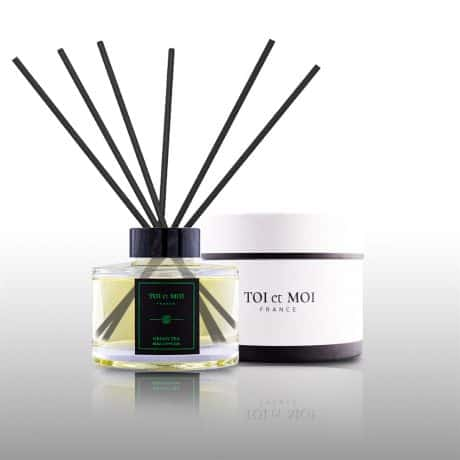 Ароматический диффузор Green Tea для дома с бамбуковыми палочками 150 мл